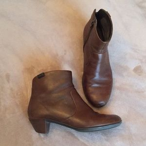 Camper Brown Leather Ankle Boots Booties